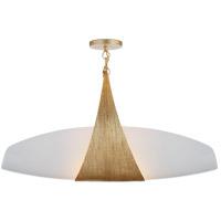 Visual Comfort KW5553G-WG Kelly Wearstler Utopia 2 Light 28 inch Gild Linear Pendant Ceiling Light, Kelly Wearstler, Large, White Glass