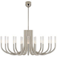 Visual Comfort KW5585PN-SG Kelly Wearstler Rousseau LED 50 inch Polished Nickel Chandelier Ceiling Light in Seeded Glass, Large