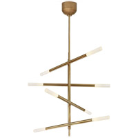 Visual Comfort KW5592AB-EC Kelly Wearstler Rousseau LED 32 inch Antique-Burnished Brass Articulating Chandelier Ceiling Light Medium