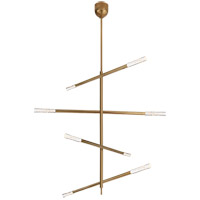 Visual Comfort KW5593AB-SG Kelly Wearstler Rousseau LED 48 inch Antique-Burnished Brass Articulating Chandelier Ceiling Light Large
