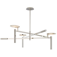 Kelly Wearstler Melange LED 45 inch Polished Nickel Chandelier Ceiling Light, Large Floating Disc