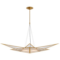Visual Comfort KW5650AB-CLG Kelly Wearstler Ori LED 55 inch Antique-Burnished Brass Linear Chandelier Ceiling Light, Medium