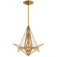 Visual Comfort KW5654AB-CLG Kelly Wearstler Ori LED 25 inch Antique-Burnished Brass Chandelier Ceiling Light, Small