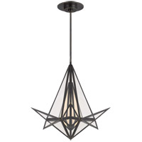 Visual Comfort KW5654BZ-CLG Kelly Wearstler Ori LED 25 inch Bronze Chandelier Ceiling Light, Small