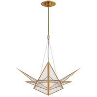 Visual Comfort KW5656AB-CLG Kelly Wearstler Ori LED 32 inch Antique-Burnished Brass Chandelier Ceiling Light, Medium