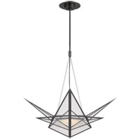 Visual Comfort KW5656BZ-CLG Kelly Wearstler Ori LED 32 inch Bronze Chandelier Ceiling Light, Medium