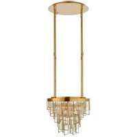 Visual Comfort KW5801AB-FRG Kelly Wearstler Ardent 8 Light 15 inch Antique-Burnished Brass Waterfall Chandelier Ceiling Light, Small