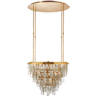 Visual Comfort KW5802AB-FRG Kelly Wearstler Ardent 20 Light 27 inch Antique-Burnished Brass Chandelier Ceiling Light