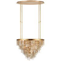 Visual Comfort KW5803AB-FRG Kelly Wearstler Ardent 29 Light 36 inch Antique-Burnished Brass Waterfall Chandelier Ceiling Light, Large