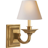 Visual Comfort Studio Edgartown 1 Light Decorative Wall Light in Hand-Rubbed Antique Brass MS2012HAB-NP