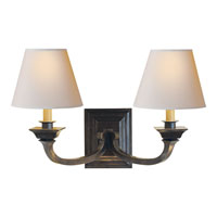 Visual Comfort Studio Edgartown 2 Light Decorative Wall Light in Bronze with Wax MS2013BZ-NP