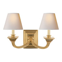 Visual Comfort Studio Edgartown 2 Light Decorative Wall Light in Hand-Rubbed Antique Brass MS2013HAB-NP