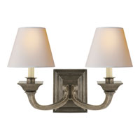 Visual Comfort Studio Edgartown 2 Light Decorative Wall Light in Sheffield Nickel MS2013SN-NP