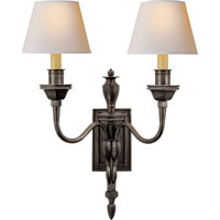 Visual Comfort Studio Winslow 2 Light Decorative Wall Light in Bronze with Wax MS2016BZ-NP