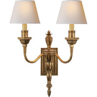 Visual Comfort MS2016HAB-NP Studio Winslow 2 Light 20 inch Hand-Rubbed Antique Brass Decorative Wall Light
