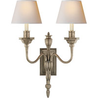 Visual Comfort Studio Winslow 2 Light Decorative Wall Light in Sheffield Nickel MS2016SN-NP