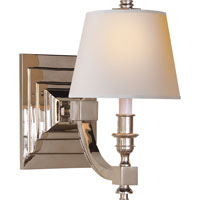 Visual Comfort Studio Eiffel 1 Light Decorative Wall Light in Polished Nickel MS2020PN-NP