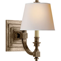 Visual Comfort Studio Eiffel 1 Light Decorative Wall Light in Sheffield Nickel MS2020SN-NP