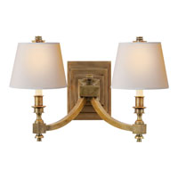 Visual Comfort Studio Eiffel 2 Light Decorative Wall Light in Hand-Rubbed Antique Brass MS2021HAB-NP