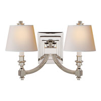 Visual Comfort Studio Eiffel 2 Light Decorative Wall Light in Polished Nickel MS2021PN-NP