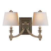 Visual Comfort Studio Eiffel 2 Light Decorative Wall Light in Sheffield Nickel MS2021SN-NP