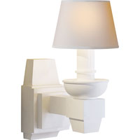 Visual Comfort Studio Serge 1 Light Decorative Wall Light in Plaster White MS2030WHT-NP