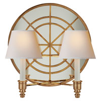 Visual Comfort Studio Global 2 Light Decorative Wall Light in Hand-Rubbed Antique Brass MS2201HAB-NP