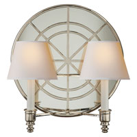 Visual Comfort Studio Global 2 Light Decorative Wall Light in Polished Nickel MS2201PN-NP