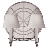 Visual Comfort Studio Global 2 Light Decorative Wall Light in Sheffield Silver MS2201SHS-NP