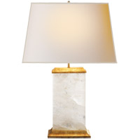 Visual Comfort MS3002Q-NP Michael S Smith Crescent 27 inch 40 watt Natural Quartz Stone Decorative Table Lamp Portable Light in (None)