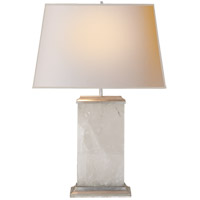 Michael S Smith Crescent 27 inch 60 watt Quartz on Silver Leaf Decorative Table Lamp Portable Light