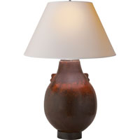 Visual Comfort Studio Shanxi 2 Light Decorative Table Lamp in French Red Ceramic MS3006FR-NP