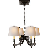 Visual Comfort Studio Eiffel 4 Light Chandelier in Bronze with Wax MS5020BZ-NP
