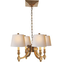 Visual Comfort Studio Eiffel 4 Light Chandelier in Hand-Rubbed Antique Brass MS5020HAB-NP