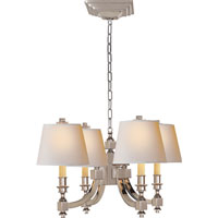 Visual Comfort Studio Eiffel 4 Light Chandelier in Polished Nickel MS5020PN-NP