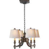 Visual Comfort Studio Eiffel 4 Light Chandelier in Sheffield Nickel MS5020SN-NP