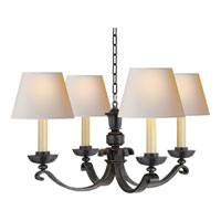 Visual Comfort Studio Palma 4 Light Chandelier in Bronze with Wax MS5025BZ-NP