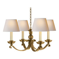 Visual Comfort MS5025HAB-NP Michael S Smith Palma 4 Light 28 inch Hand-Rubbed Antique Brass Chandelier Ceiling Light