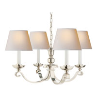 Visual Comfort Studio Palma 4 Light Chandelier in Polished Nickel MS5025PN-NP