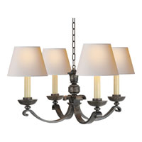 Visual Comfort Studio Palma 4 Light Chandelier in Sheffield Nickel MS5025SN-NP