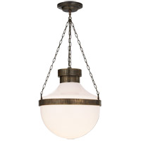 Visual Comfort MS5030ABV-WG Michael S Smith Modern Schoolhouse 2 Light 18 inch Antique Brass With Verdis Pendant Ceiling Light