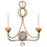 Niermann Weeks Milan 2 Light 18 inch Venetian Gold Sconce Wall Light, Niermann Weeks, Clear Crystal