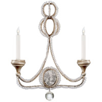 Visual Comfort NW2030VS Niermann Weeks Milan 2 Light 18 inch Venetian Silver Sconce Wall Light, Niermann Weeks, Clear Crystal