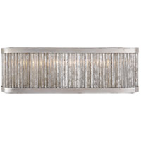 Visual Comfort Niermann Weeks Sophie 3 Light 18 inch Burnished Silver Leaf Linear Bath Light Wall Light, Niermann Weeks, Large NW2226BSL - Open Box