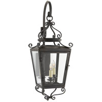 Visual Comfort NW2704FR-CG Niermann Weeks Lafayette 3 Light 34 inch French Rust Outdoor Wall Lantern, Small Bracketed