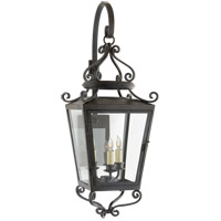 Visual Comfort NW2705FR-CG Niermann Weeks Lafayette 3 Light 31 inch French Rust Outdoor Wall Lantern, Medium Bracketed