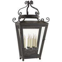 Visual Comfort NW2707FR-CG Niermann Weeks Lafayette 3 Light 31 inch French Rust Outdoor Wall Sconce Large
