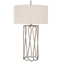 Visual Comfort NW3113BSL-S Niermann Weeks Mirabella 30 inch 75 watt Burnished Silver Leaf Table Lamp Portable Light
