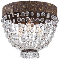 Visual Comfort NW4015AGP Niermann Weeks Lyon 3 Light 12 inch Antique Gild and Polychrome Flush Mount Ceiling Light, Niermann Weeks, Small, Clear Crystal