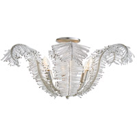 Niermann Weeks Calais 6 Light 26 inch Burnished Silver Leaf Semi-Flush Mount Ceiling Light, Niermann Weeks, Large, Clear Glass